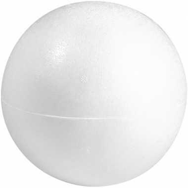 1x beschilderbare piepschuim holle ballen/bollen 40 cm twee helften